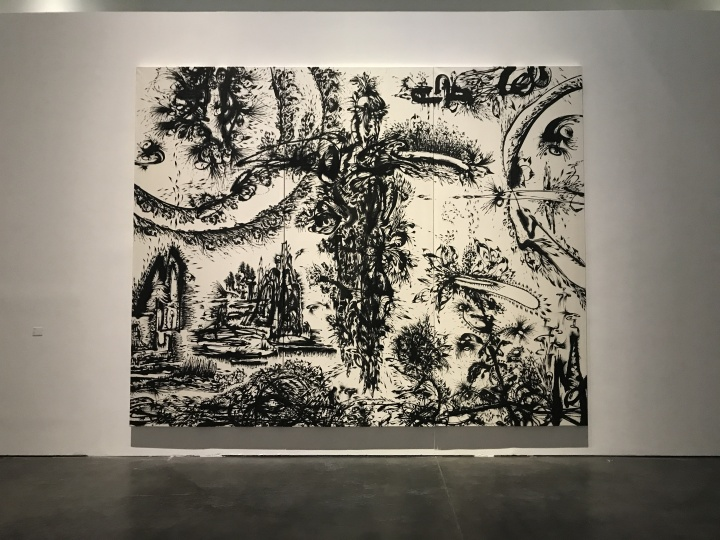 黄致阳《北京生物 》360×450 cm 水墨绢本 2017