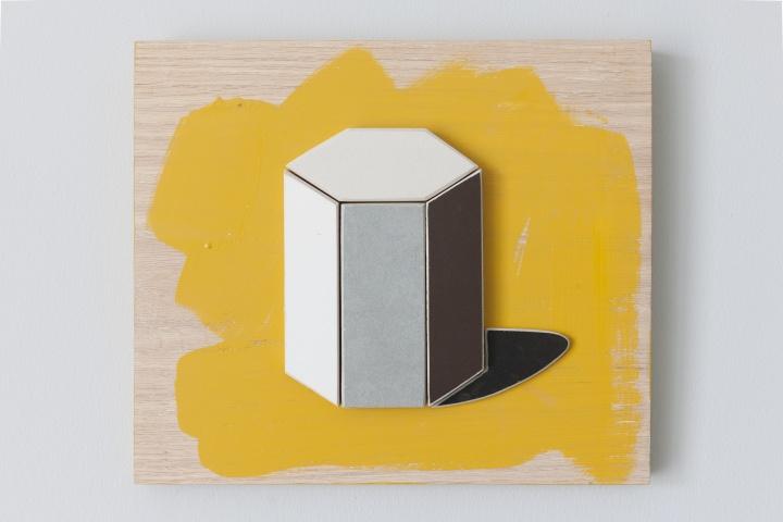 《这里需要一点理性》 110×60cm 瓷砖、白橡木板、丙烯2017