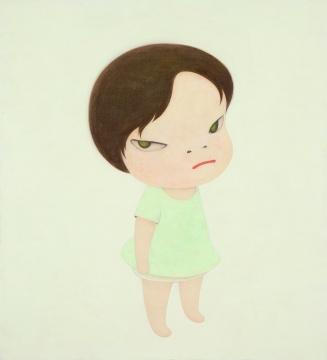 奈良美智《最后的战士/无名士兵》 165×150cm 亚克力画布 2000  成交价:2168万港元(估价:2000万-3000万港元)       另一件表现出色的国际艺术家作品,来自于生于1973年的印尼女艺术家克里斯汀·艾珠(Christine Ay Tjoe)的《小苍蝇及其他翅膀》,也是当晚的第二高价。拍卖一开始,这件作品很快就在场内和超过10个的电话委托中,轻松超过90万-120万港元的估价。将近十分钟的拉锯战,拍卖师已经喊到了900万以上的价格。最终场内的买家不得不放弃,电话委托方以970万港元的落槌价、1172万港元的成交价拿下该件作品,该件作品也强势刷新了克里斯汀·艾珠的个人拍卖纪录。