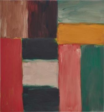 肖恩·斯库利 《光之墙-淡绿色》 150.4×140.3cm 油画麻布 2013  成交价:1088万港元,刷新艺术家亚洲拍卖纪录(估价:320万-550万港元)      在国博举行过展览的费尔南多·博特罗的《终曲》以584万港元成交,为TOP 4拍品;