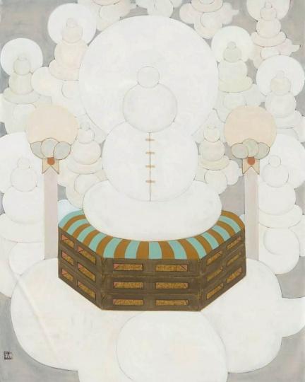 王鉴为《见贤思齐》 130x104cm 纸本水墨、丙烯、铅笔 2016