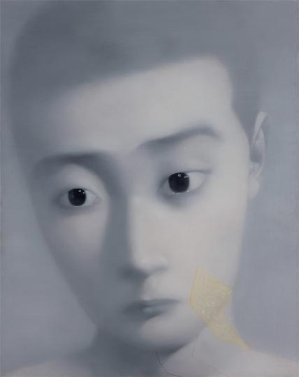 张晓刚 《失忆与记忆5号》 200×260cm 布面油画 2001