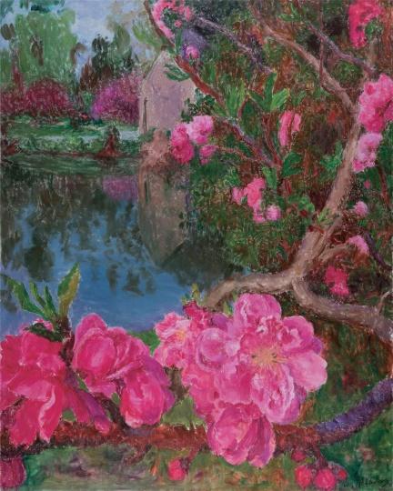 周春芽 《湖边》 250×200cm 布面油画 2015