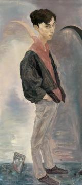 毛焰 《X的肖像》 200×100cm 布面油画 1996  成交价:1012万元(估价:800万-1200万元,北京保利现当代艺术夜场TOP3,唐炬竞得)