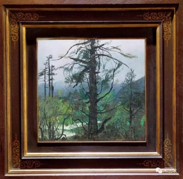 吴冠中 《雨后流泉》 45×47cm 布面油画 1978  成交价:1380万元(估价:1000万-1500万元,北京匡时二十世纪现代艺术专场TOP1)