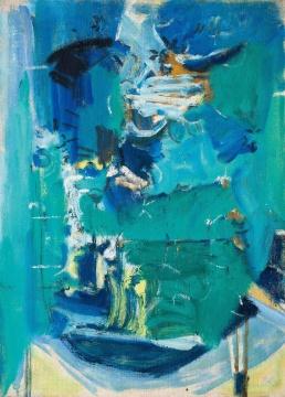 吴大羽 《绿韵》 53×39cm 布面油画 1980年代  成交价:920万元(估价:680万-880万元,北京匡时二十世纪现代艺术专场TOP2)