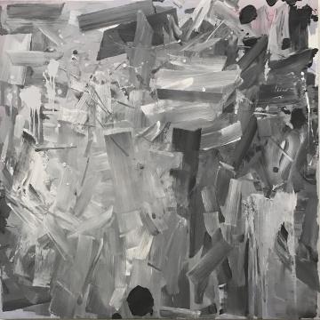 冯良鸿 《16-3-8》160x160cm布面油画2017