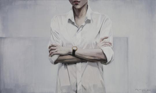 《不看手表的人》 60×100cm 布面油画 2015