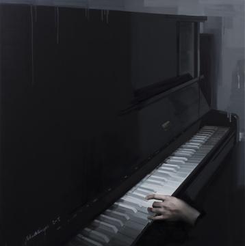 《白色琴键NO.2 》100×100cm 布面油画 2015