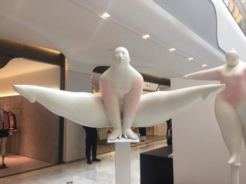 罗旦 《平衡系列1》 110×100×50cm 青铜3版 2016  ¥46000