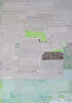 梁铨 《星的空间之五》200×140cm 色、墨、宣纸拼贴于亚麻布2009-2011  估价:45万-65万元    黄予:梁铨的作品透着中国传统美学的诗意和西方结构主义的冷静。是中国当代水墨的重要艺术家。这件作品是梁铨比较少见的大尺幅作品,非常重要。    王新友:单从作品的画面就能感受到艺术家内心生发的宁静,画面内敛而充满生机,每一笔都是自然生长的,细节耐看,作品完整而不呆板。