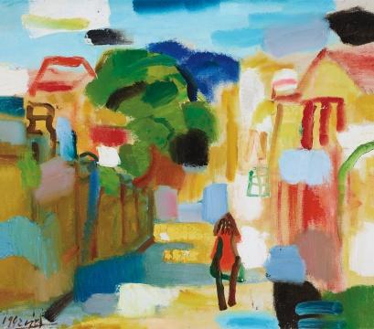 陈钧德 《鼓浪屿风景》 69×78.5cm 布面油画 1992  估价:5万-8万元      李抗:陈钧德的油画面貌一直在同时代的油画家中独树一帜,清新亮丽的色彩在其超强的绘画能力驾驭下也不失厚重。此次上拍的一组陈钧德油画,必然会在拍场上引起粉丝们的一番追逐。