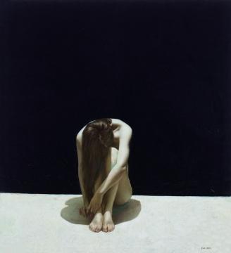 刘虹 《畅想曲》 111×101cm 布面油画 1986  估价:30万-40万元    伍劲:这时候正是85新潮如火如荼的时候,出现这样一幅人体也是可以理解的,更多是关于思考,与传统偏写实的人体关系不大。这是刘虹早期作品中最出色的一件,甚至比这次在中国美术馆的川美大展中展出的更加重要。在女性绘画的脉络里,这可以算是80年代最具代表性的作品。   推荐作品十:关良《武剧图》——他的水墨戏曲人物画在中国艺术史上独树一帜