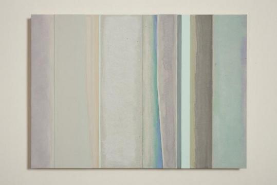 远(纸板系列之二十一) 2017 纸板上坦培拉、水彩、中国画颜料27×38cm