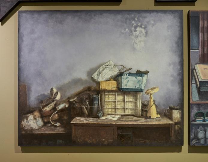 洪文学 《记忆碎片》 木板油画  油画系 指导教师:朱海