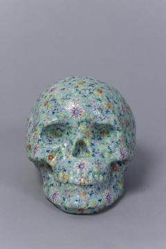 《骷髅》34cm×25cm×23cm陶瓷2015