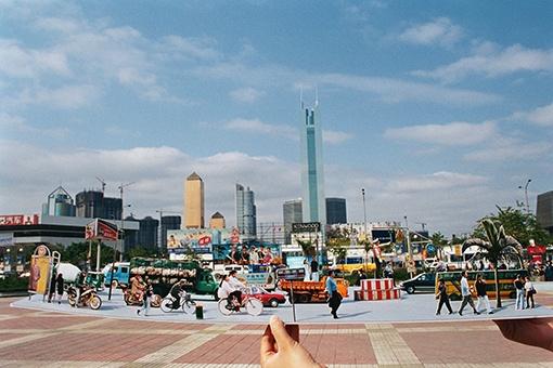 主题展拟参展作品陈劭雄《街景》 1995