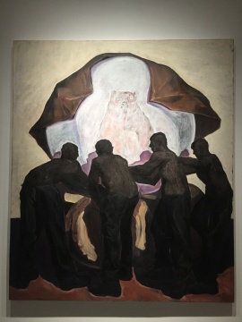 胡水樑 《熊抱之一》 200×170cm 布面油画 2017  中国美术学院获奖艺术家作品