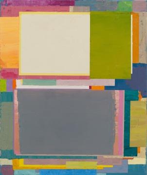 《将桌子置于角落 15》 60 x 50 cm 布面油画 2015