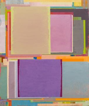 《将桌子置于角落 63》 130 x 110 cm 布面油画 2017