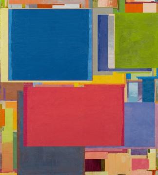 《将桌子置于角落 55》 200 x 180 cm 布面油画 2017