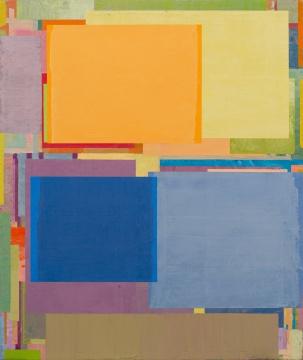 《将桌子置于角落 59》 130 x 110 cm 布面油画 2017