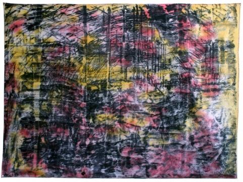 《悲怆棚户区2》 160x231cm 布面油画 2016