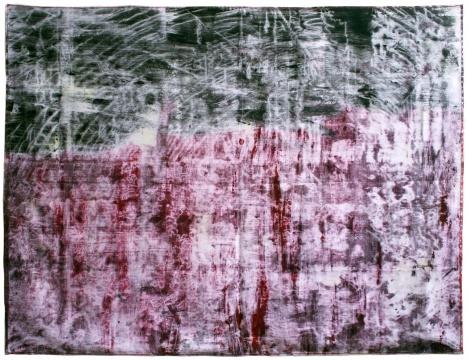 《悲怆棚户区3》 159x210cm 布面油画 201
