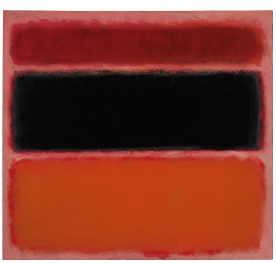 马克·罗斯科《第36号(黑条)》 157.1×170.1cm 油彩画布 1958  成交价:4048.5万美元(约合2.7亿元人民币),由龙美术馆收藏 2015纽约佳士得春拍