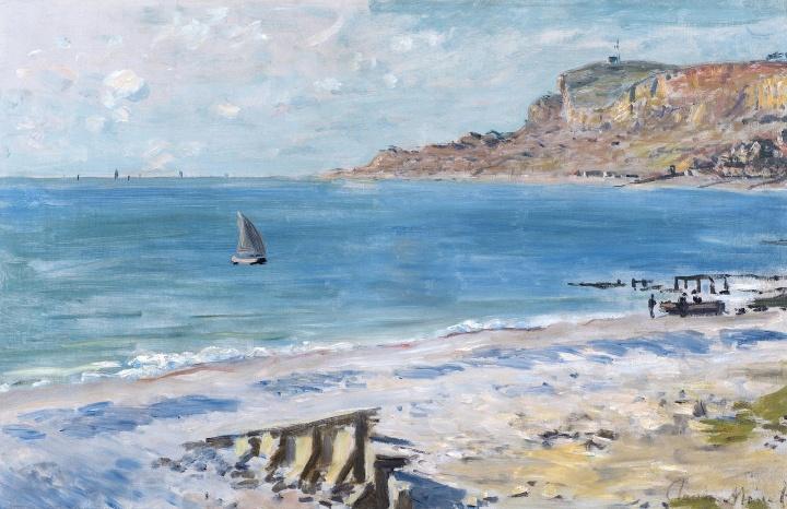 克劳德·莫奈《圣·安德利斯》 48.2×74.3cm布面油画 1873年  成交价:4600万元 2016保利华谊(秋拍)