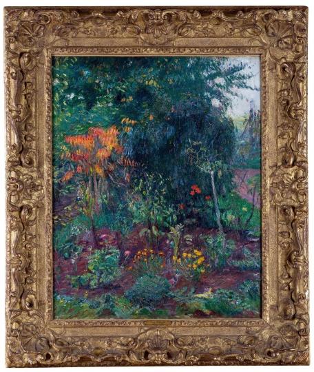 保罗·高更《花园一角》 71.75×55.88cm 布面油画 1885  成交价:3795万元 2016保利华谊(秋拍)