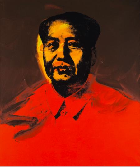 安迪·沃霍尔 《毛主席》 107×163cm 亚克力、丝网印刷 1973  成交价 :9853.75万元,刷新西方当代艺术品的亚洲拍卖记录 2017香港苏富比春拍