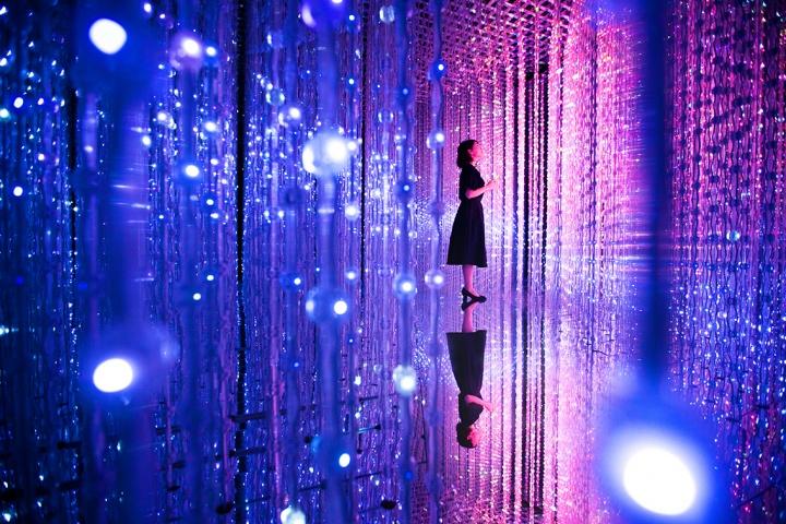 """佩斯北京""""teamlab:花舞与未来森林""""展览现场"""