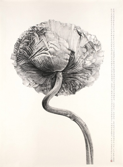刘丹《 罂粟花》 212×148cm 水墨纸本 2008  成交价:580.6万元香港苏富比2016春拍
