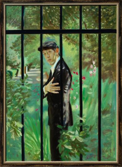 《我的花园》 171×117cm 布面油画 2016 劳伦斯·何浦林收藏