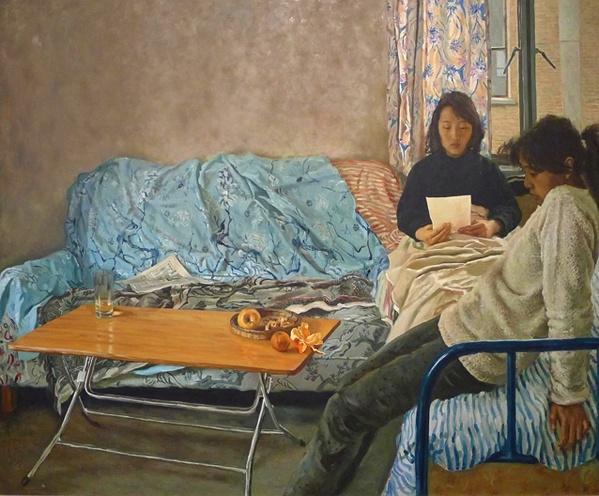 《远方的来信》160x190cm 布面油画 1988(龙美术馆收藏)