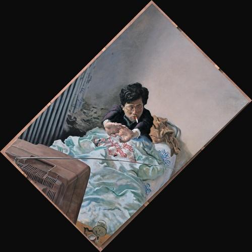 《小张》214x140cm 布面油画 1992(杨滨收藏)