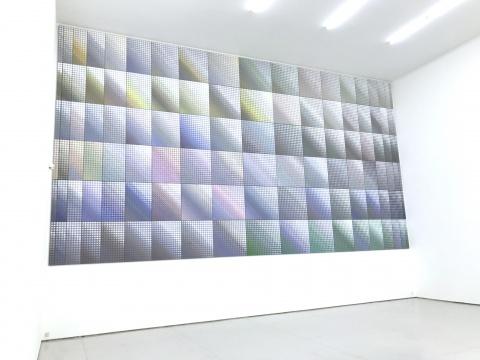 《深白》绘画装置,画布上丙烯 540×1000cm 2016-2017