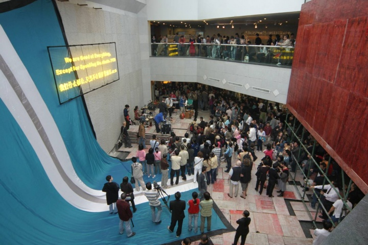 """2005年""""第二届广州三年展""""现场"""