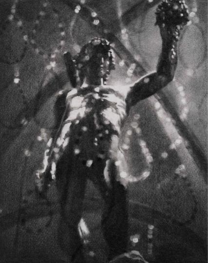 《肖像》 53×42cm石墨毛毡2017