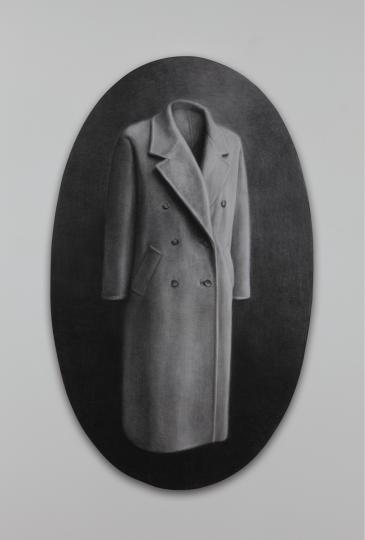 《轮廓1》160×98cm碳笔毛毡2013
