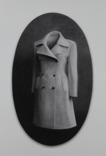 《轮廓3》160×98cm碳笔毛毡2013