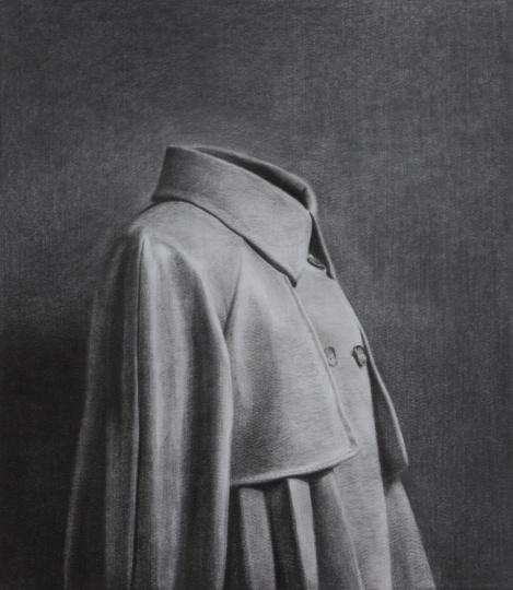 《大衣》86×75cm碳笔毛毡2013