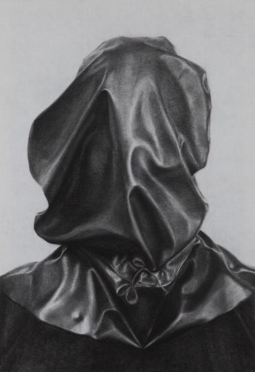《肖像》102×70cm碳笔毛毡2013