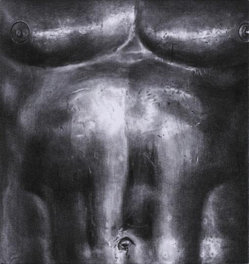 《出离》65×61cm石墨毛毡2017