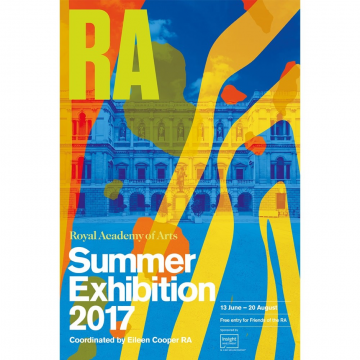 """2017伦敦皇家美术学院夏季展览海报     首先,让我们来认识一下这个展览。1768年,乔治三世出资成立英国皇家美术学院,画家雷诺兹成为第一任院长,这个有点类似美协的机构设有40个会员席位。同年,皇家美术学院决定开设""""面向公众的夏季展览"""",历夏季三月,一方面汇报学院成员创作成果,一方面也为年轻艺术家提供出头露脸的展览机会。"""