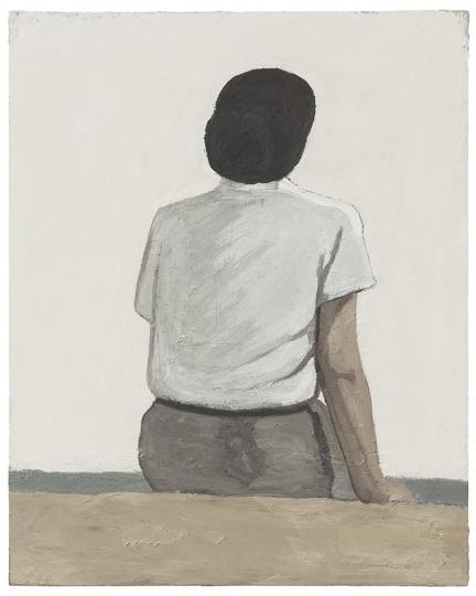 刘晓辉 《无题-海边坐姿4号》 100×80cm 布面油画 2015  RMB:12.7万元