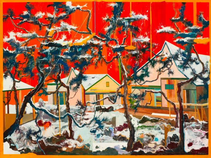 王源远 《快雪时晴》 150×200cm 布面油画 2017  RMB:7.2万元
