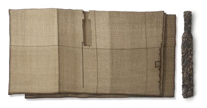 姜吉安 《丝丝残照,隐隐迢迢》 45×84cm、45×6cm 现成品绘画 2015  RMB:32万元