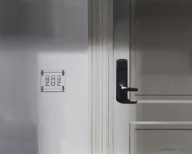 马铭泽 《S的房间》 120×150cm 布面油画 2015  RMB:9万-10万元